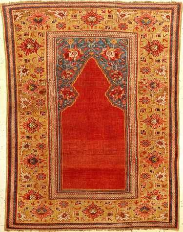 Transylvanian Prayer Niche Rug West Anatolia Circa 1700 Wool Wool Approx 147 X 117 Cm Rugs On Carpet Rugs Carpet Fabric