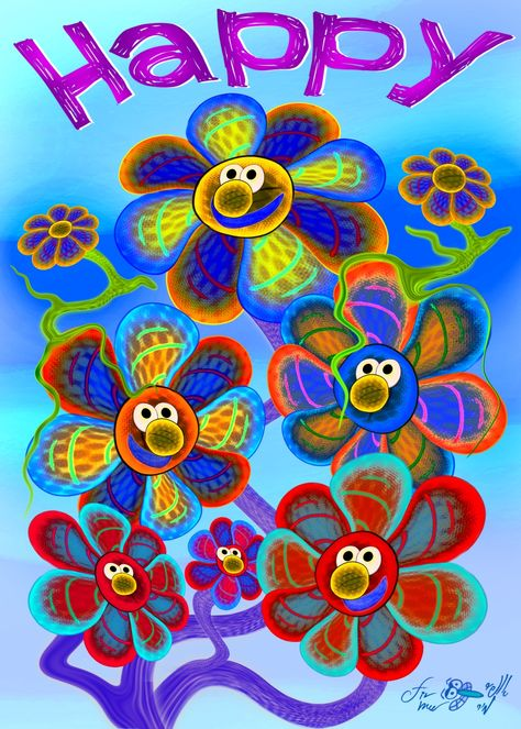 #Free_printable flower artwork for kids rooms. http://www.kid-storybooks.com/
