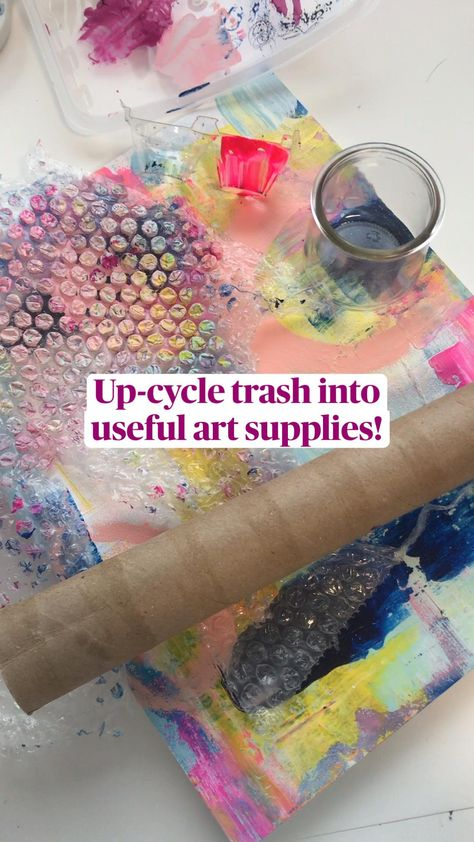 Up-cycle trash into  useful art supplies! Perfect art project to celebrate Earth Day