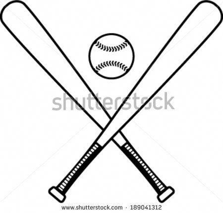 Baseball Bats And Baseball Vector Illustration Baseballbats