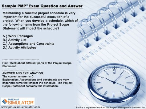 My Top 10 Recommended Web Sites for Free PMP Exam Sample Questions - project schedule sample