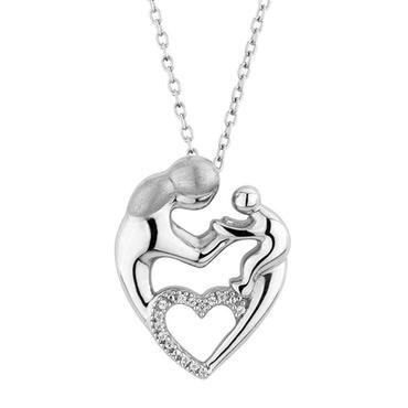 Mother's Heart Diamond Pendant 1/20ctw - Item 19312156 | REEDS Jewelers