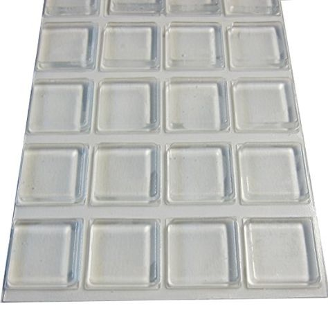 Rubber Feet Adhesive Rubber Pads 1 Inch Square Self Stick Bumpers Clear Bumper Pads 20 Pack You Can Get Additional De Rubber Bumper Furniture Pads Adhesive