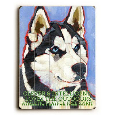 Artehouse Llc Siberian Huskie By Ursula Dodge Graphic Art Plaque Size 25 H X 34 W Siberian Husky Husky Dogs Husky Dog Pictures
