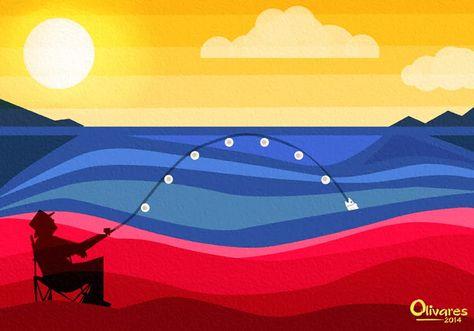 Arte con la bandera de Venezuela por Carlos Olivares