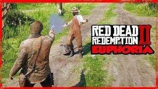 Rdr2 Euphoria Ragdoll Physics With Horse Crashes Compilation Gameplay Xbox One X Euphoria Xbox One Gameplay