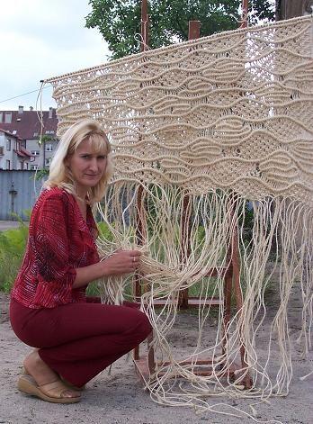 Macrame pattern handcrafted by Jolanta Surma , macrame artist.