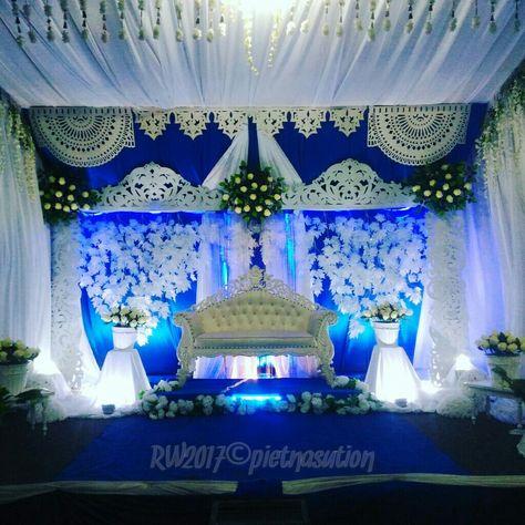 dekorasi pernikahan minimalis blue   dekorasi pernikahan