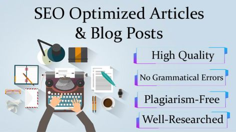 SEO article writing, blog writing, and content writing
