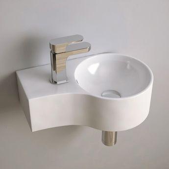Lave Mains Gain De Place 43x27 Cm Ceramique Atsuo Banos Chicos Banos Cuarto De Bano