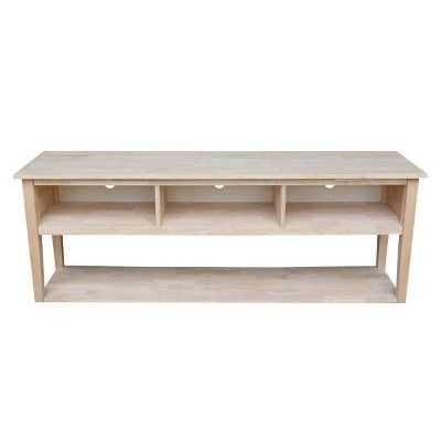 Concepts Tv Stand Unfinished 72 International Concepts Concept Home Classic Furniture Home Furniture