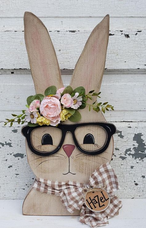 Bunny Crafts, Dyi Crafts, Wood Crafts, Rabbit Crafts, Easter Crafts For Adults, Easter Crafts To Make, Hoppy Easter, Easter Bunny, Easter Projects