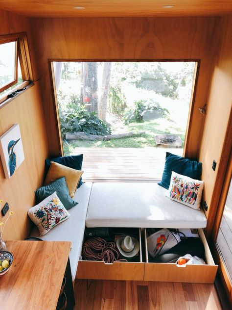 It took the couple about six months to design their dream tiny house, and eight months to build this beauty on wheels. #tinyhome