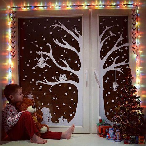 #кммадвент2016_день21  Украшаем окна для #кммадвент2016 от @mama.club @nataliya29 @anya_timmy Спонсор дня @fillinhome  Вот такое сказочное окошко у нас получилось.  #картинки_Тимки_адвент2016