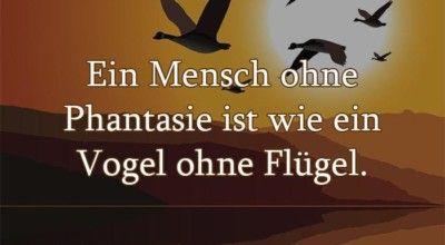 Ein Mensch Ohne Phantasie Ist Wie Ein Vogel Ohne