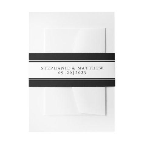 Elegant Wedding Chic Black Border #elegantwedding #blackandwhite #frame #elegant #chicwedding #calligraphy #typography #simple #borders #mailing