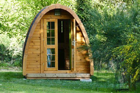 chalet de jardin insolite habitable installé en Bretagne ...