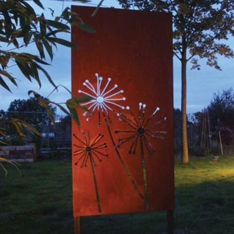 Outdoor Artificial Bamboo Corten Steel Screen Panels