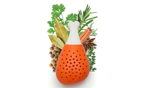 Pulke Herb Infuseur Silicone Cuisson Gadget De Cuisine Soupe Orange Ototo GENUINE NEW