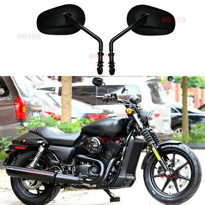 Sponsored Ebay Tapered Black Motorcycle Rearview Side Mirrors For Harley Touring Road Glide Hg Black Motorcycle Motorcycle Parts And Accessories Harley Bikes