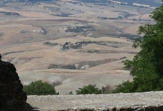 view contrydise  near Volterra