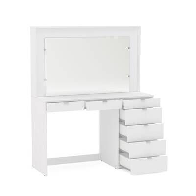 Cormier Corner Makeup Vanity With Mirror Vanity Modern Vanity Table Modern Vanity