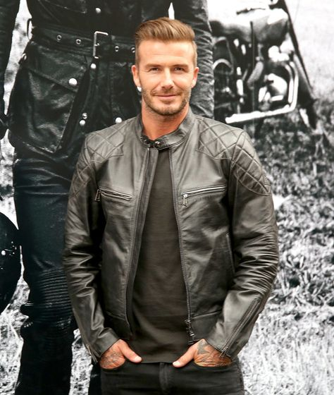 David Beckham looked fresh faced at the signing of his coffee-table book Off Road/David Beckham at Belstaff's NYC store on Tuesday.
