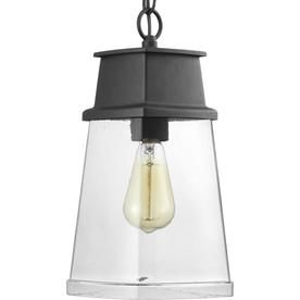 Progress Lighting Greene Ridge Black Single Craftsman Clear Glass