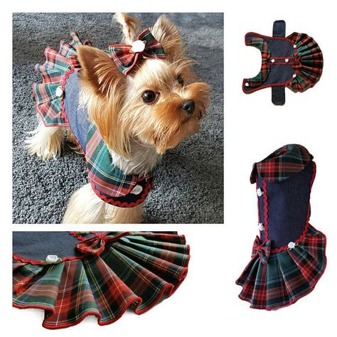 Dog clothes pattern, PDF girl dog clothes, Small dog pattern dress, dog clothes small, PDF dog clothes ,Small dog clothes, Pattern pet clothes, Language English Size XS: Measurements, Dimensions no. 2 photo neck ~ 9-10/24-26cm chest girth ~ 12/30cm length ~ 9/23cm This listing
