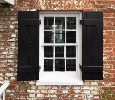 Exterior Front Entrance Decor Black Shutters 35 Ideas For 2019 In 2020 Shutters Exterior House Shutters Wood Shutters Exterior