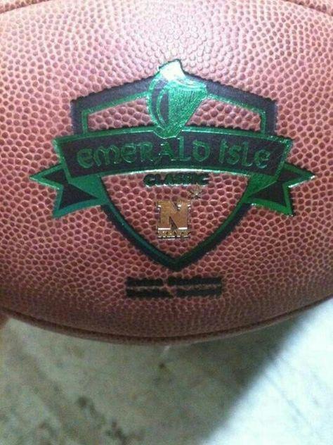 Gameball for Navy/Notre Dame