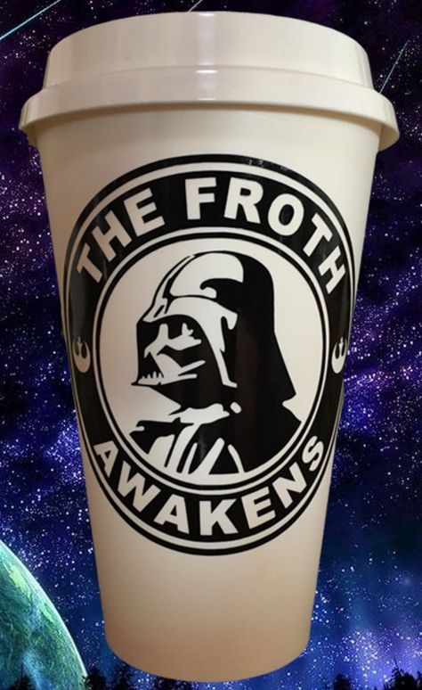 The Froth Awakens - Star Wars inspired Starbucks tumbler