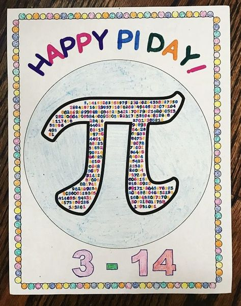 Pi Day Activity for Middle School - Coloring Page
