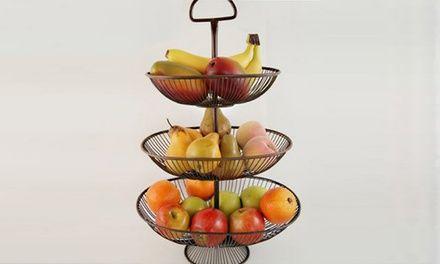Useful 3 Tier Decorative Wire Fruit Basket Countertop Stand Wire Fruit Basket Fruit Basket Wire Baskets
