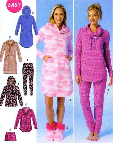 BRAND NEW Miss Plus Size 16-26 Pajamas & Bootie Easy Sewing Pattern McCalls 7061 #McCalls7061 #MissesTopsDressesShortsPantsBooties
