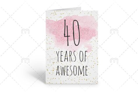 It's just an image of Printable 40th Birthday Cards within happy birthday