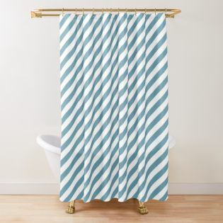 Blue With Stripes Shower Curtain Shower Curtain Decor Striped Shower Curtains Curtains