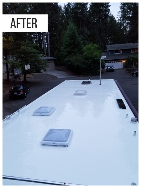 How To Diagnose Water Damage And Fix Leaks On Rvs In 2020 Roof Repair Liquid Roof Roof Coating