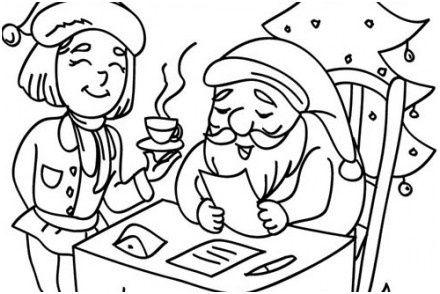 Coloriage Du Pere Noel 14 Amusant Coloriage Du Pere Noel