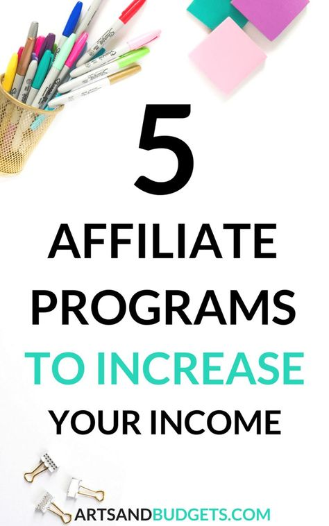 10 Affiliate Marketing Programs to Monetize Your Blog - Arts and Budgets | Affiliate marketing progr