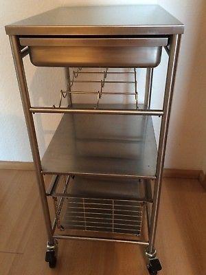 Ikea Grundtal Servierwagen Edelstahl Robust 54x41x90cm Neupreis Ca