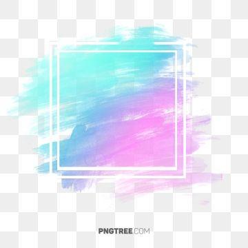Hologram Frame Border Frame Pastel Square Png Transparent