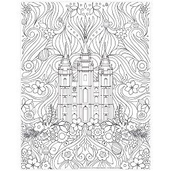 Easter Salt Lake Temple Coloring Page Printable Coloring Pages Easter Coloring Pages Lds Coloring Pages