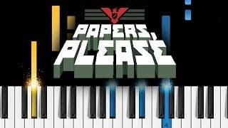 Papers Please Theme Song Easy Piano Tutorial Music Lessons