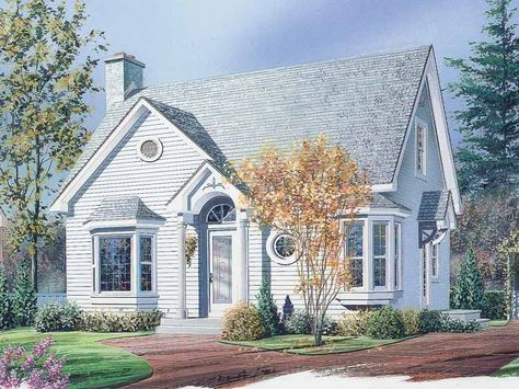 Eplans New American House Plan - Sitting Room with Sunny Window Seat - 1311 Square Feet and 2 Bedrooms from Eplans - House Plan Code HWEPL13758
