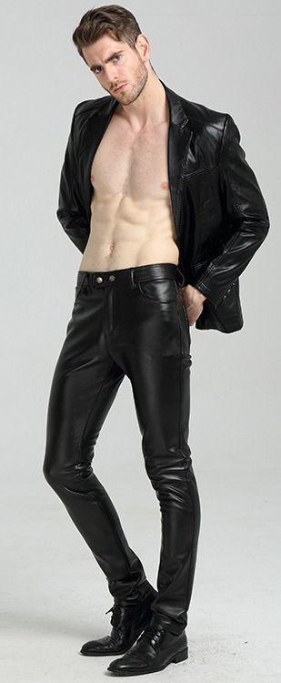 Pin De Wa2ise Wa2ise En Leather Suit Moda Hombre Cuero Para Hombres Pantalones De Cuero