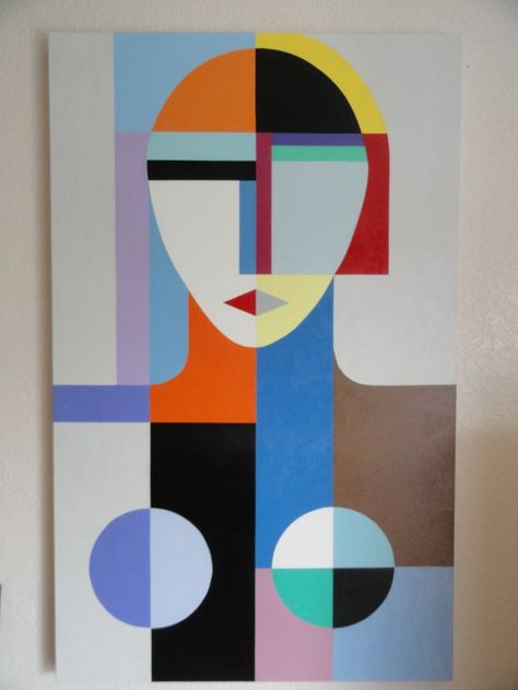 GENERAL: This listing is for your very own, custom painting. I can do copies of paintings, especially in these geometric or cubist styles. Or if you have a different painting youd like to see if I can do for
