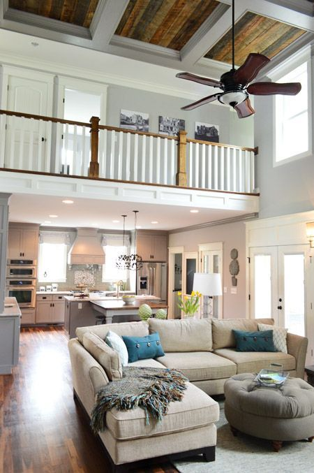 Hmm Do I Like This Open Hallway To The Living Room Below Or Would It Be Too Noisy Also Not Sure How I Feel About 2 Story Rooms Home House Home Living House not open concept