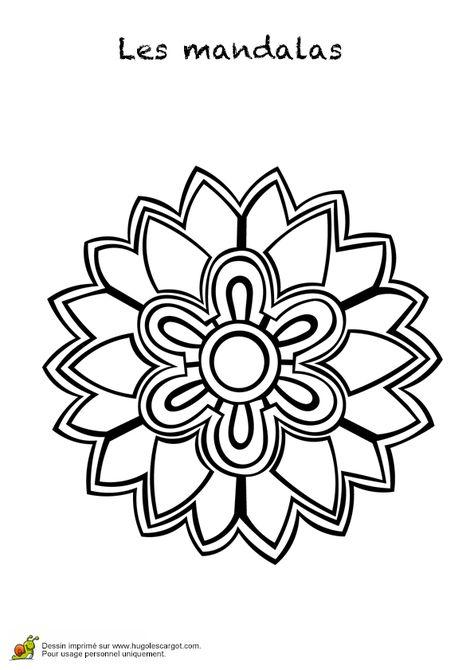 Coloriage Du Dessin D Un Mandala Fleur Simple Et Joli Coloriage