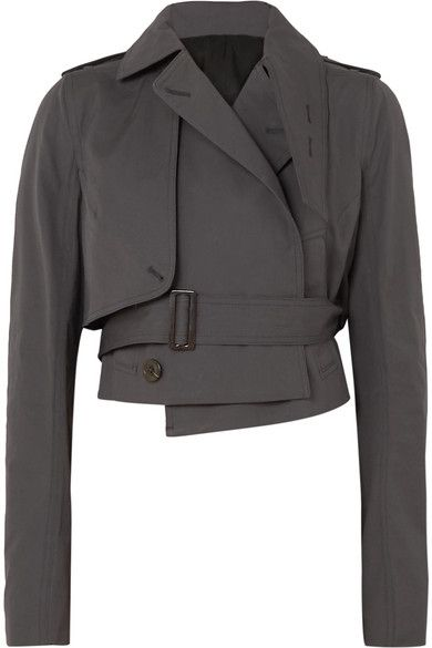 -- Rick Owens - Cropped Cotton-blend Poplin Jacket - Navy -- only always Givenchy Top, Fashion Details, Fashion Design, Style Fashion, High Collar, Rick Owens, Coats For Women, Fashion Outfits, Fashion Trends
